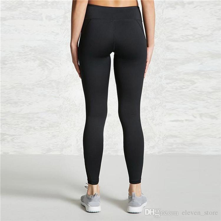 Сексуальные женщины леггинсы готический вставить сетки дизайн брюки Брюки большой размер черный Капри спортивная новая фитнес леггинсы YWYS7021