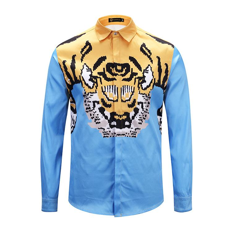 c7ceff29 2019 XIMIWUA 2018 New Arrival Hawaiian Shirt Mens Shirt Casual Slim Fit 3d Print  Animal Head Shirts Long Sleeve Chemise Homme From Whitecloth, ...