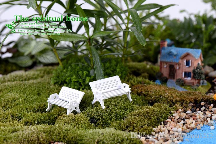 Fee Garten Zubehör Mini Stuhl Moos Gnome Miniatur Kreative Mini Gefälschte Garten Dekoration DIY Emulation Rasen Miniatur Dekoration