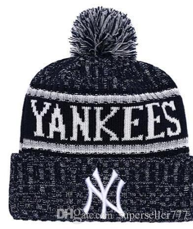 5626f377 Fashion Winter Spring Sports NY Beanies Casual Custom Knitted Cap ...