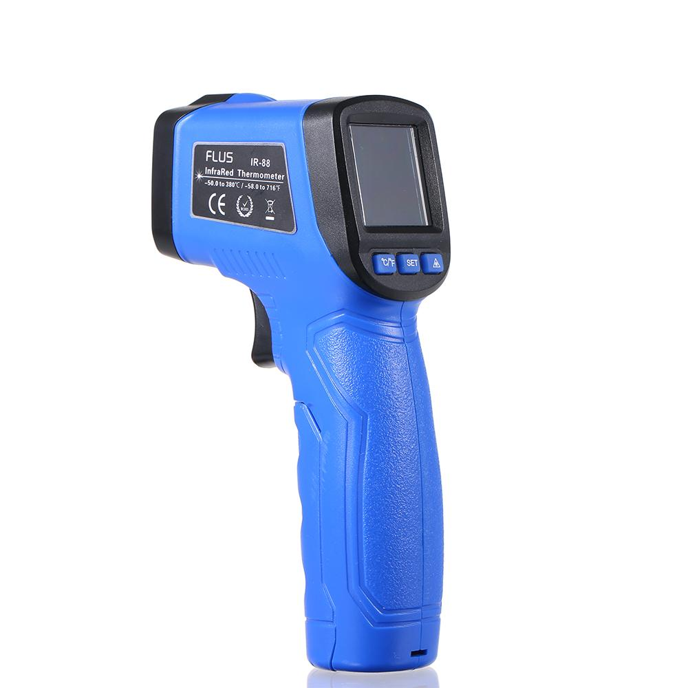 LCD Display Laser IR Infrared Thermometer Non-contact Handheld Pyrometer Digital Temperature Thermoregulator Tester Thermostat