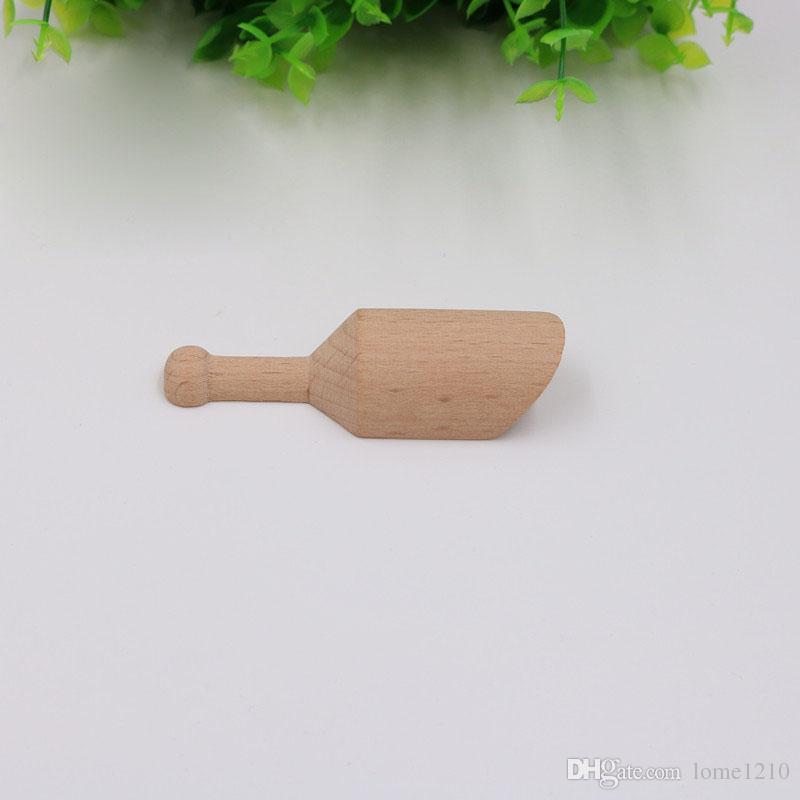Mini Tuz Çay Kaşığı bulaşığı Doğal Ahşap El Sanatları Kaşık Küçük çeşni Şeker Scoop