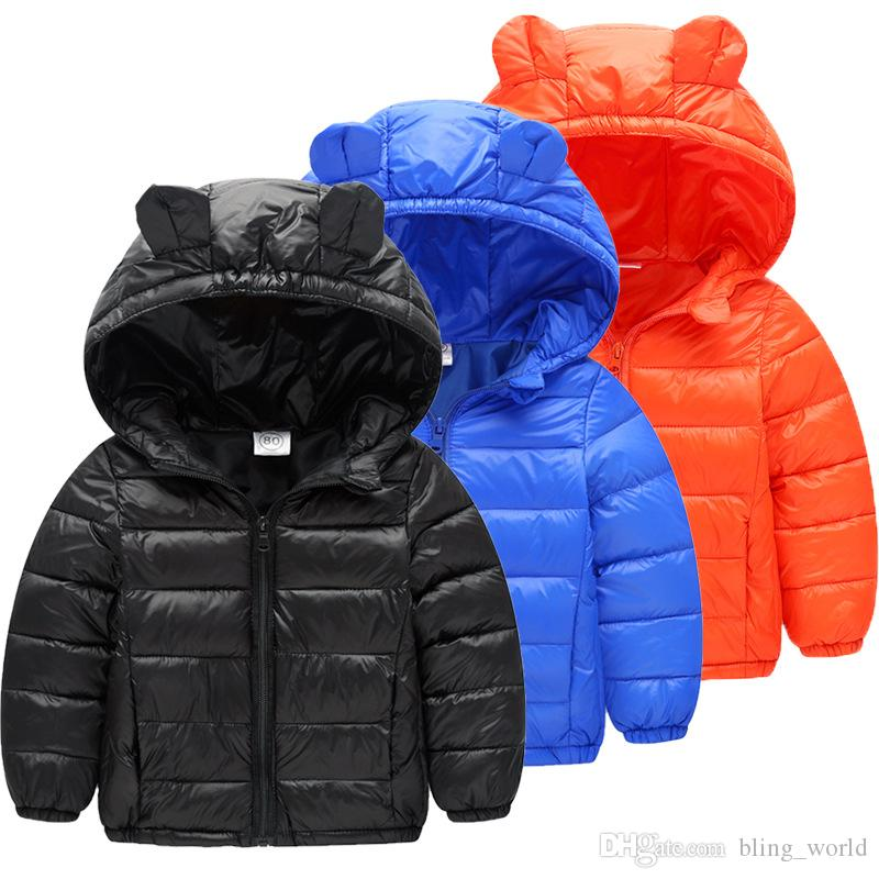 0e5677e5e381 Kids Winter Coats Children Cotton Padded Down Jacket Warm Cat Ears Hooded  Coat Kid Jackets Clothes Optional LDH253 Girls Feather Down Coat Down Jacket  On ...