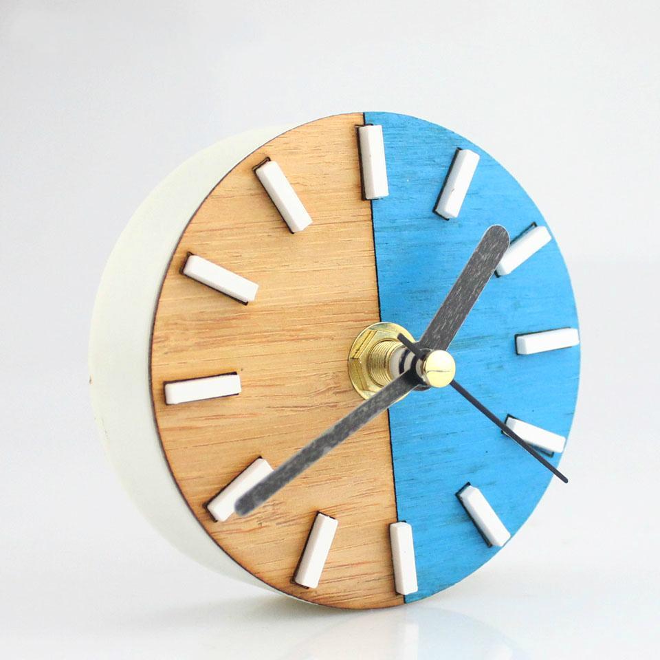 Patchwork Wall Clock Fridge Magnets Clock Refrigerator Stickers Wall ...