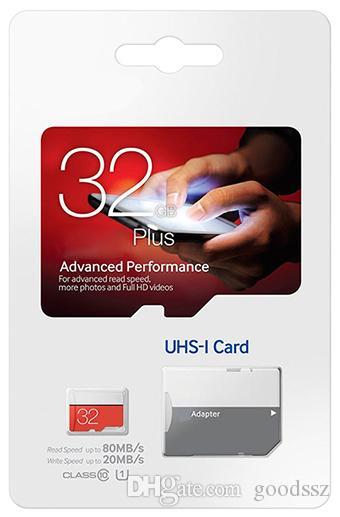 실제 용량 EVO Plus 16GB 32GB 메모리 카드 C10 클래스 10 EVO + UHS-IU1 TF 메모리 카드