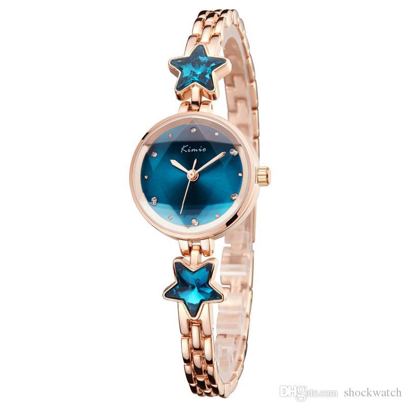 Kimio 2018 Lady Dress Uhren Vintage Strass Armbanduhr für Frauen Damen Wasserdichte Uhr Armbanduhren Uhren Armband Mädchen Geschenk
