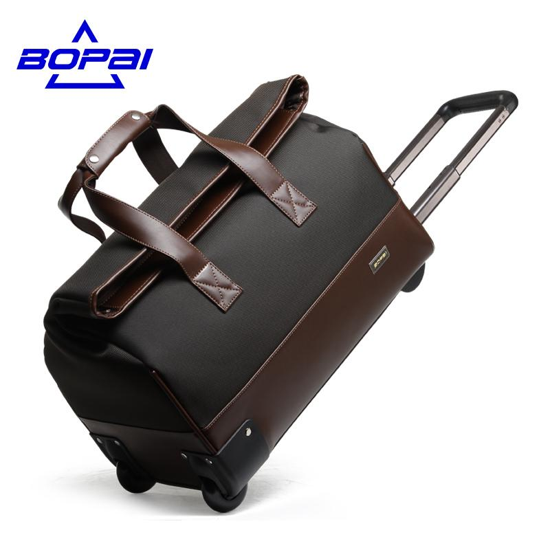 d9bf05ade5 Unisex Trolley Travel Bags On Wheels Waterproof Men S Trolley Luggage  Travel Duffle Bag 2017 Maletas De Viaje Con Ruedas Leather Bags Laptop Bags  For Women ...