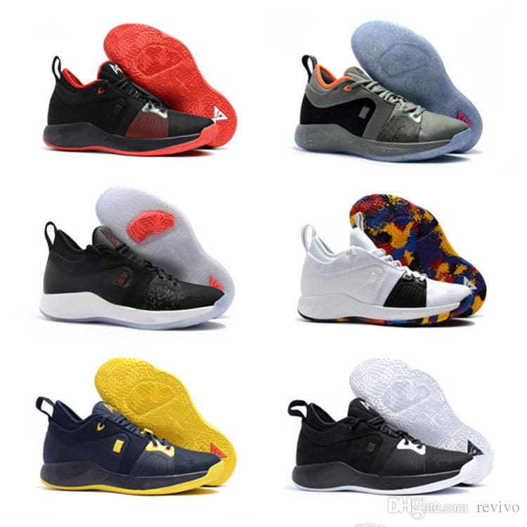 cheaper 4895e 7c41a 2018 New Arrival kids Sneakers George PG1 Grey Shining Big Boys Basketball  Shoes PG 1 Top quality Sports Basketball Sneakers , Kids SHOE
