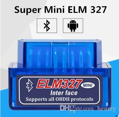 Super Mini ELM327 Bluetooth OBD2 V2.1 Diagnostic Tool Code Scanner Support Android And PC ELM 327 BT OBDII