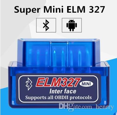 Super Mini ELM327 Bluetooth OBD2 V2.1 Поддержка смартфона и ПК Mini ELM 327 BT OBD II Scanner