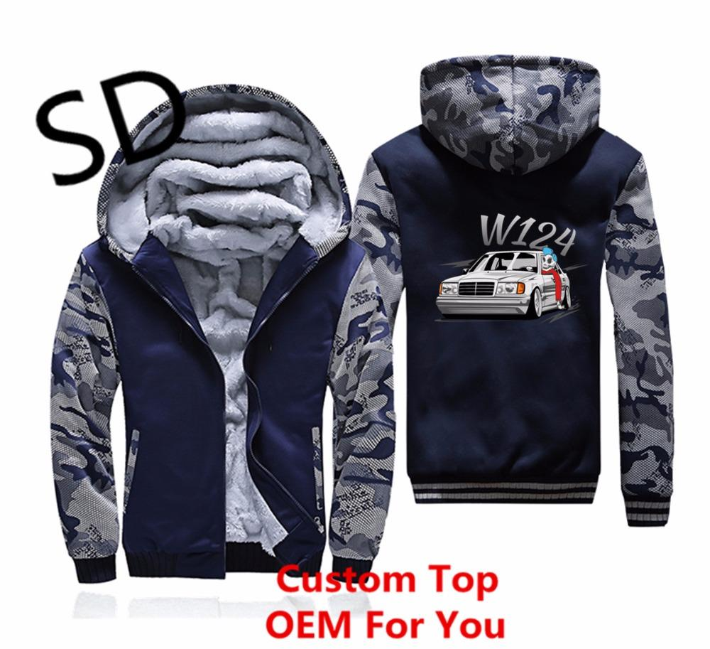Hommes Camouflage W124 4xl Veste Zipper Manteau Streetwear 3d Mercedes Hoodies Sweat Dropshipping Vêtements D'hiver qwxSUECq