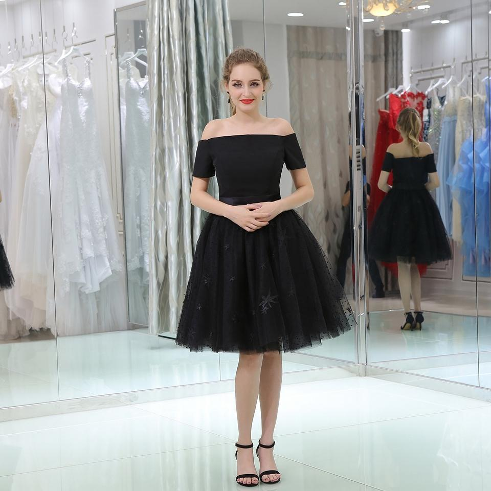 69722e38db Boat Neck Cap Sleeve Short Evening Dress Party Ball Gown Lace ...