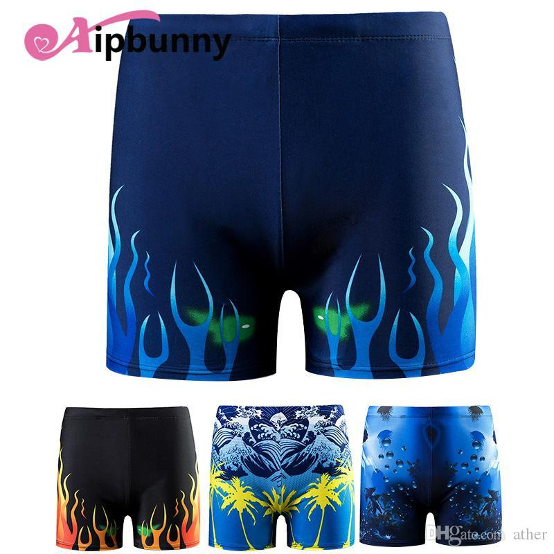 e4a28144e0 Aipbunny 2018 Printed Men Swimwear Brazilian Cut Swimsuits Man Sexy ...