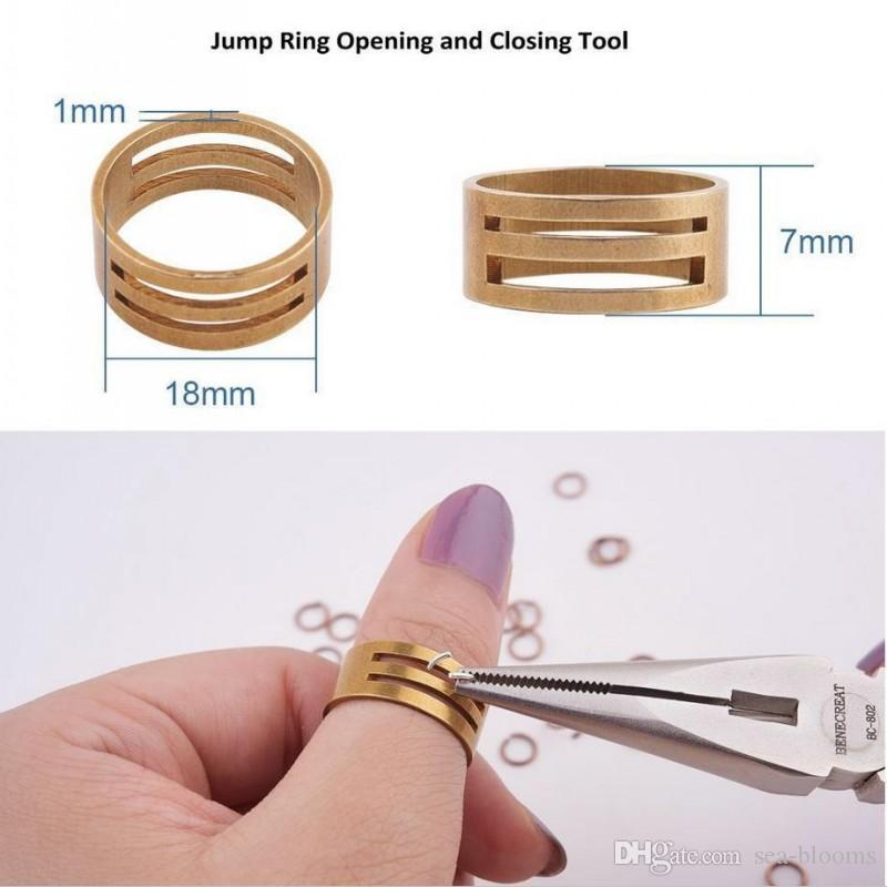 0.7x5mm Plated Open Jump Rings Kits with Jump Ring Open Tool for DIY Charm Jewelry Making Crafts D844L