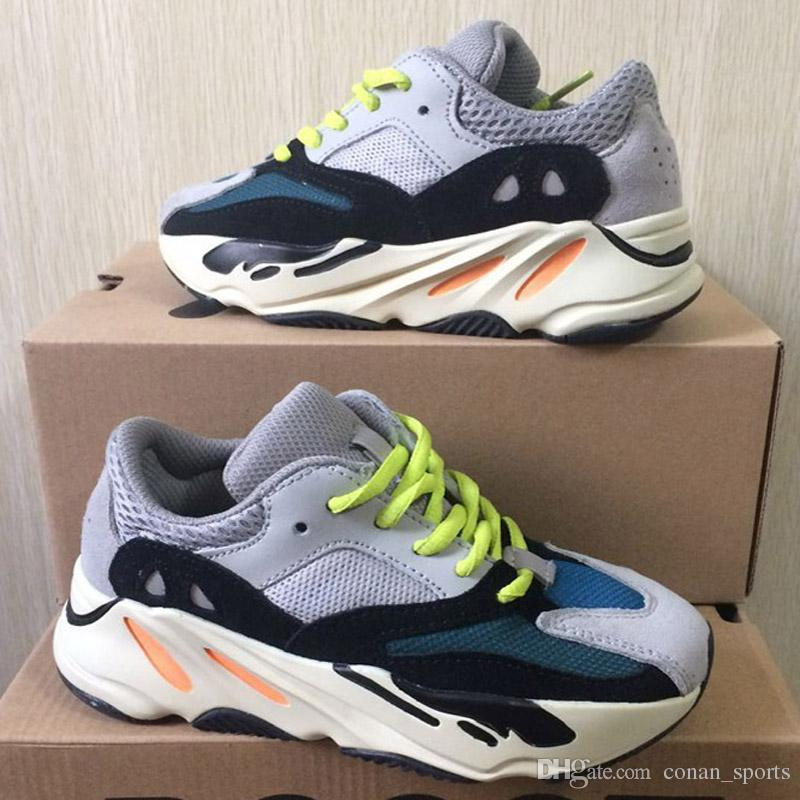 Kids Shoes Wave Runner 700 Kanye West Running Shoes Boys Girls Trainer Sneaker 700 Sport Shoe Children Athletic Shoes With Box
