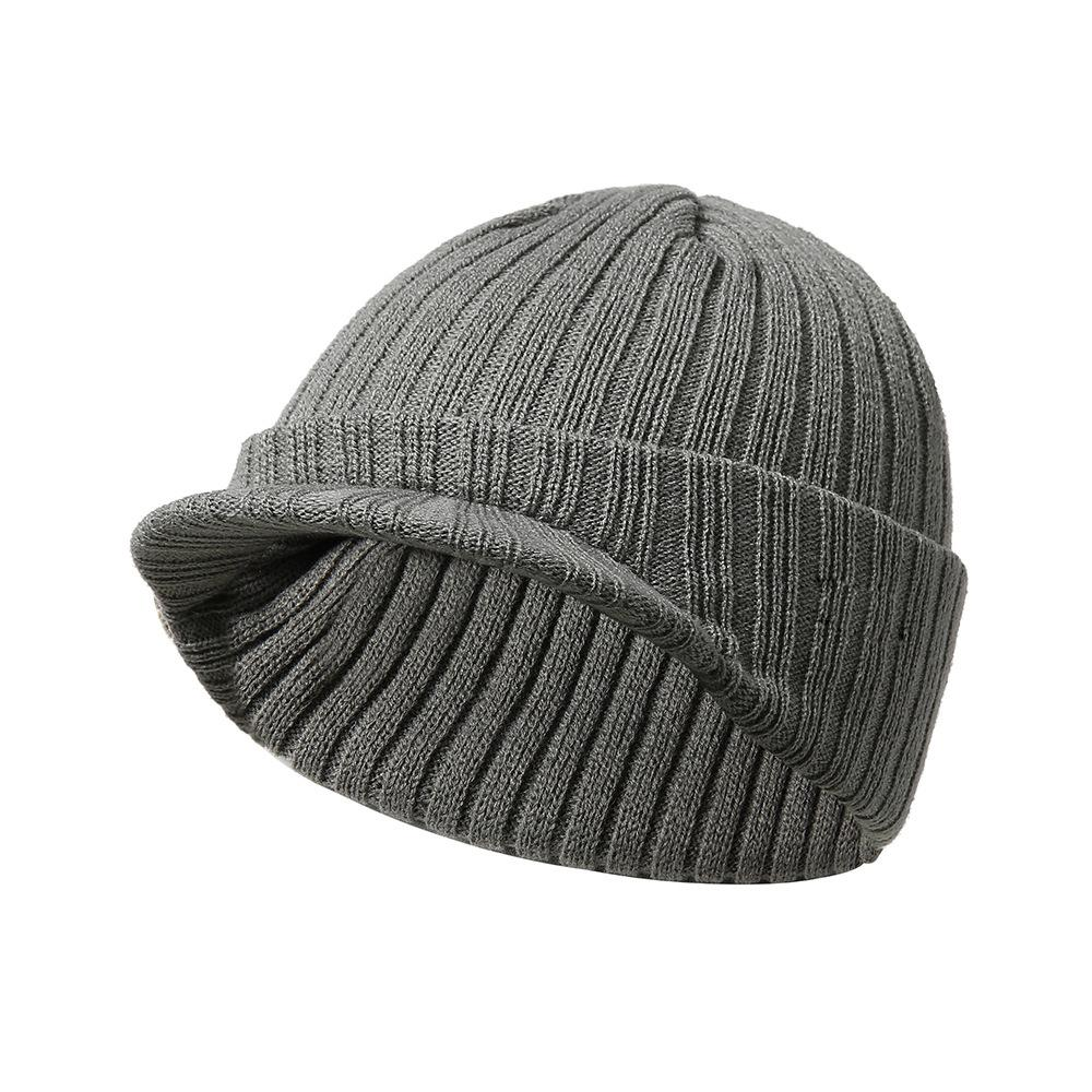 Women Visor Brim Peaked Cap Solid Color Beret Caps Female Bonnet Women Caps  Lady All Matched Winter Warm Knitted Beanies Hat UK 2019 From Homejewelry 2902476b7d9