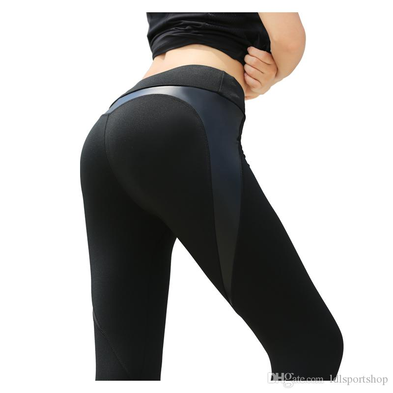 73f3b678544dc2 2019 Sexy Shaping Hip Yoga Pants Women Fitness Tights Workout Gym Running  Bottom Slim Low Waist Sports Leggings Training Clothing From Ldlsportshop,  ...