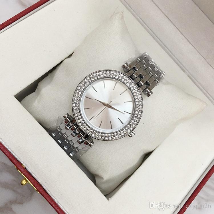 Orologi all'ingrosso ultra sottile orologio donna oro rosa diamante fiore orologi 2018 marchio di lusso infermiera donna abiti da polso femminile regali girl9