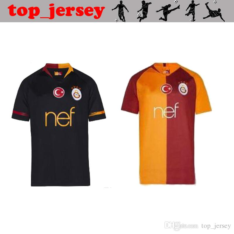 2019 New Galatasaray Home Away Socce Jerseys Champions League CIGERCI  BELHANDA FERNANDO FEGHOULI GOMIS Thai Quality Football Jersey Shirt 18 19  From ... 168eb5339