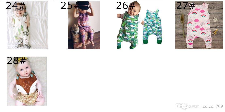 Baby Print Strampler Multi Designs Junge Mädchen Kaktus Waldweg Neugeborenen Baby Mädchen Jungen Sommer Kleidung Overall Spielanzüge 3-18 Mt