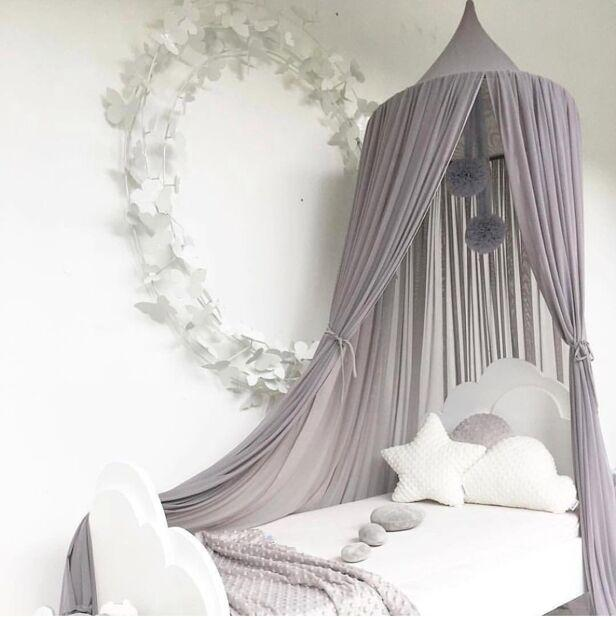 Ins Mädchen Prinzessin Baldachin Bett Vorhang Baldachin Kinderzimmer  Dekoration Baby Runde Moskitonetz Zelt Vorhänge Kinder Krippe Netting