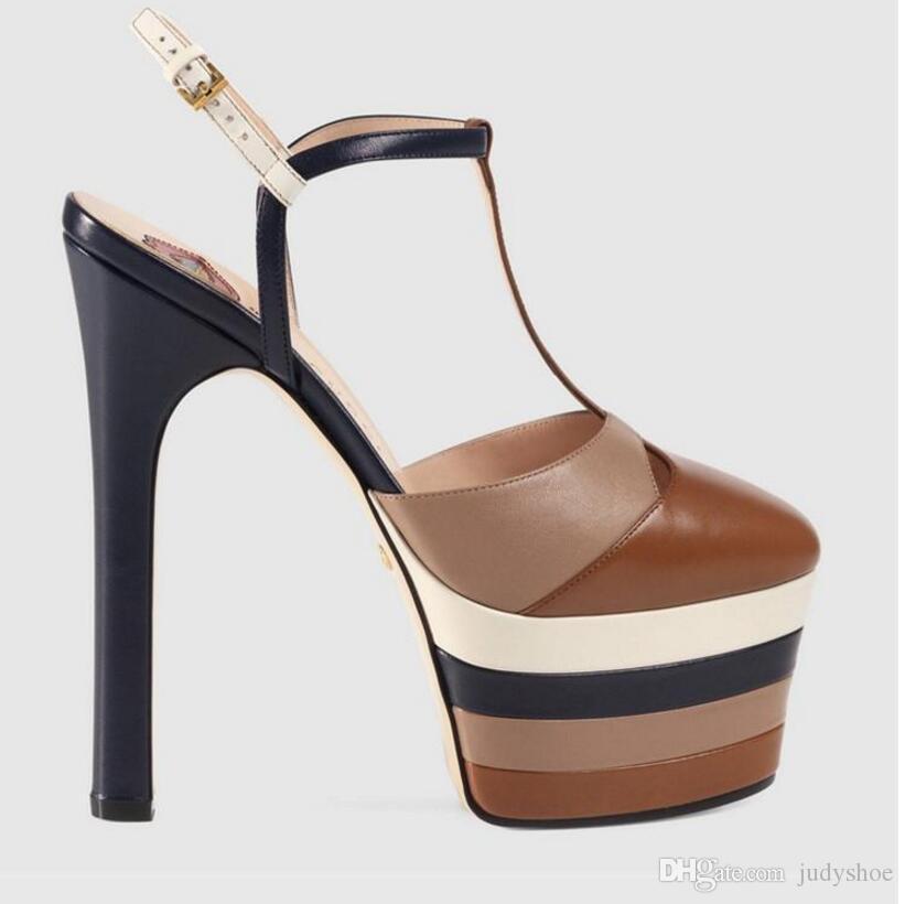 Sandálias de Salto Alto verão mulheres cravadas rebites cravejadas uma correia cinta plataforma T-show sapatos para mulheres gladiador salto alto zapatos de mujer