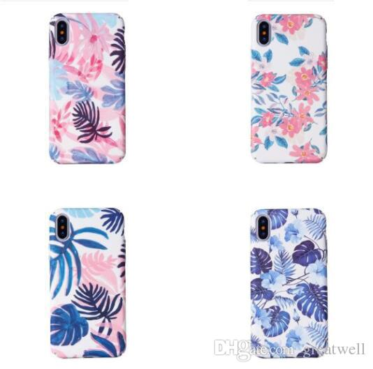 21 Modelli Custodie rigide per PC con foglia Cactus Flamingo di moda per iPhone XS Max XR 8 7 6 6S Plus Custodia protettiva all-inclusive