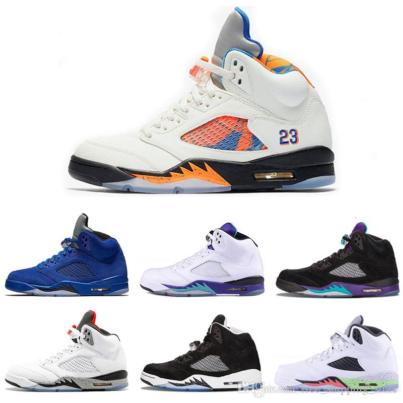 80fe409fac6007 New Arrival 5 5s International Flight White Cement Mens Basketball Shoes Og  Black Metallic Red Blue Suede Fire Red Sports Sneakers Basketball Shoe Men  Shoes ...