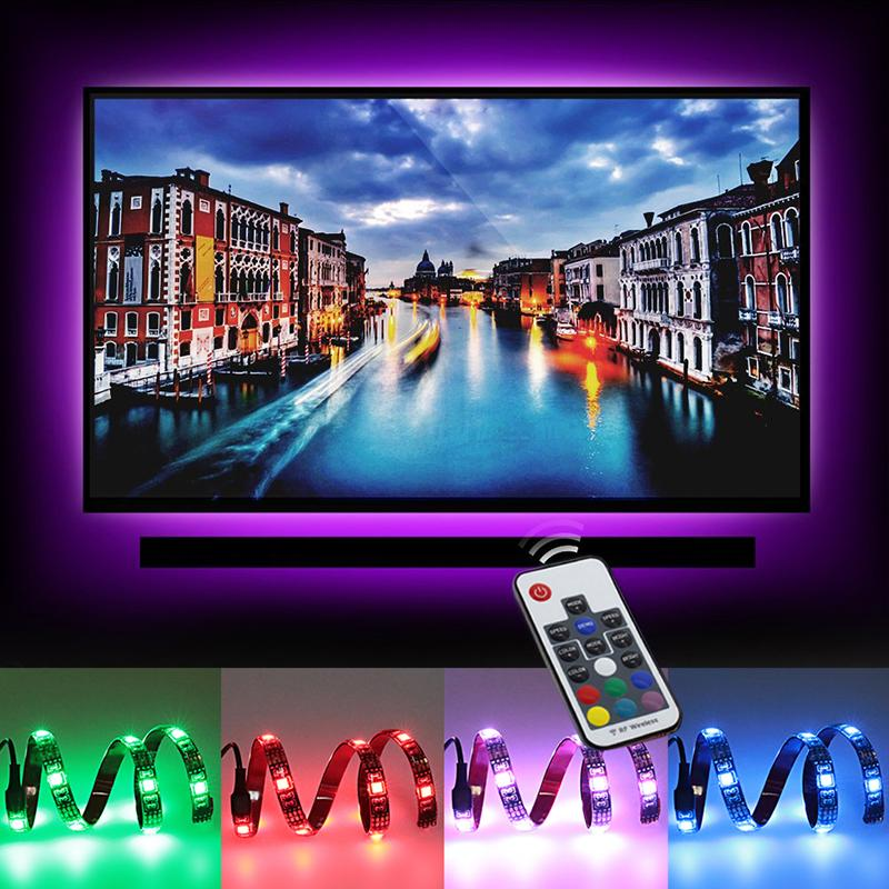 Usb Led Strip 5050 Rgb Tv Background Lighting Kit 2x197 Tv With