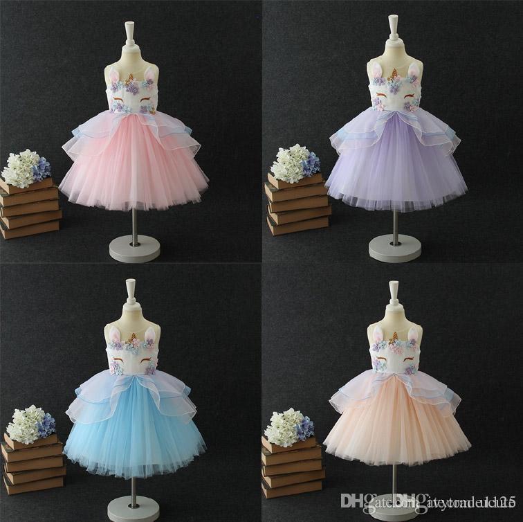 2019 2018 Unicorn Boutique Girl Tutu Dress Stereo Embroidery Girl Party  Dress Girl S Unicorn Dresses Baby   Kids Clothing From Ucute 0f31db1503