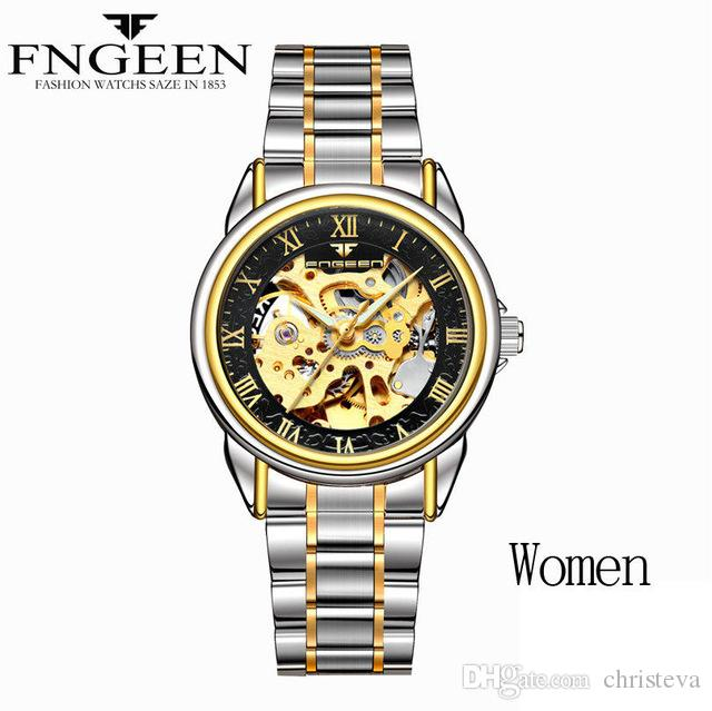 a3b3072d1af9 Compre Relojes De Mujer Relojes Mecánicos Automáticos Relojes Mujer Reloj  Tourbillon Oro Moda Esqueleto Reloj De Pulsera De Primeras Marcas Relogio  Feminino ...