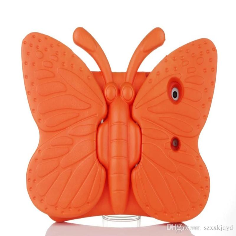 New 2018 Hot EVA Shockproof Case for iPadmini1 2 3 Cartoon Butterfly Stand Tablet Cover for iPad Kids Safe Case