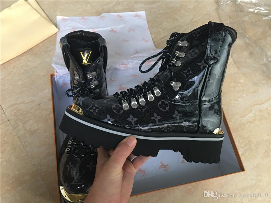 Großhandel Neue Echte Leder Frauen Schuhe Männer Leder Frauen Stiefel Herbst  Winter Knöchel Designer Mode Luxusmarke Männer Stiefel Von Yayute010, ... 06f4a8b85c