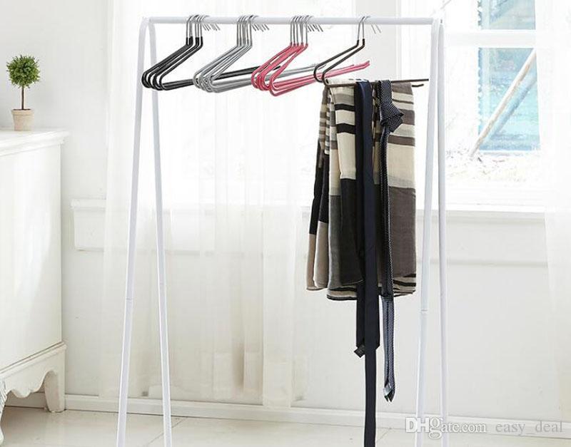 Slacks Pant Hangers Open Ended Easy Slide Organizers Space Saving Non Slip Metal Trousers Hanger QW7135