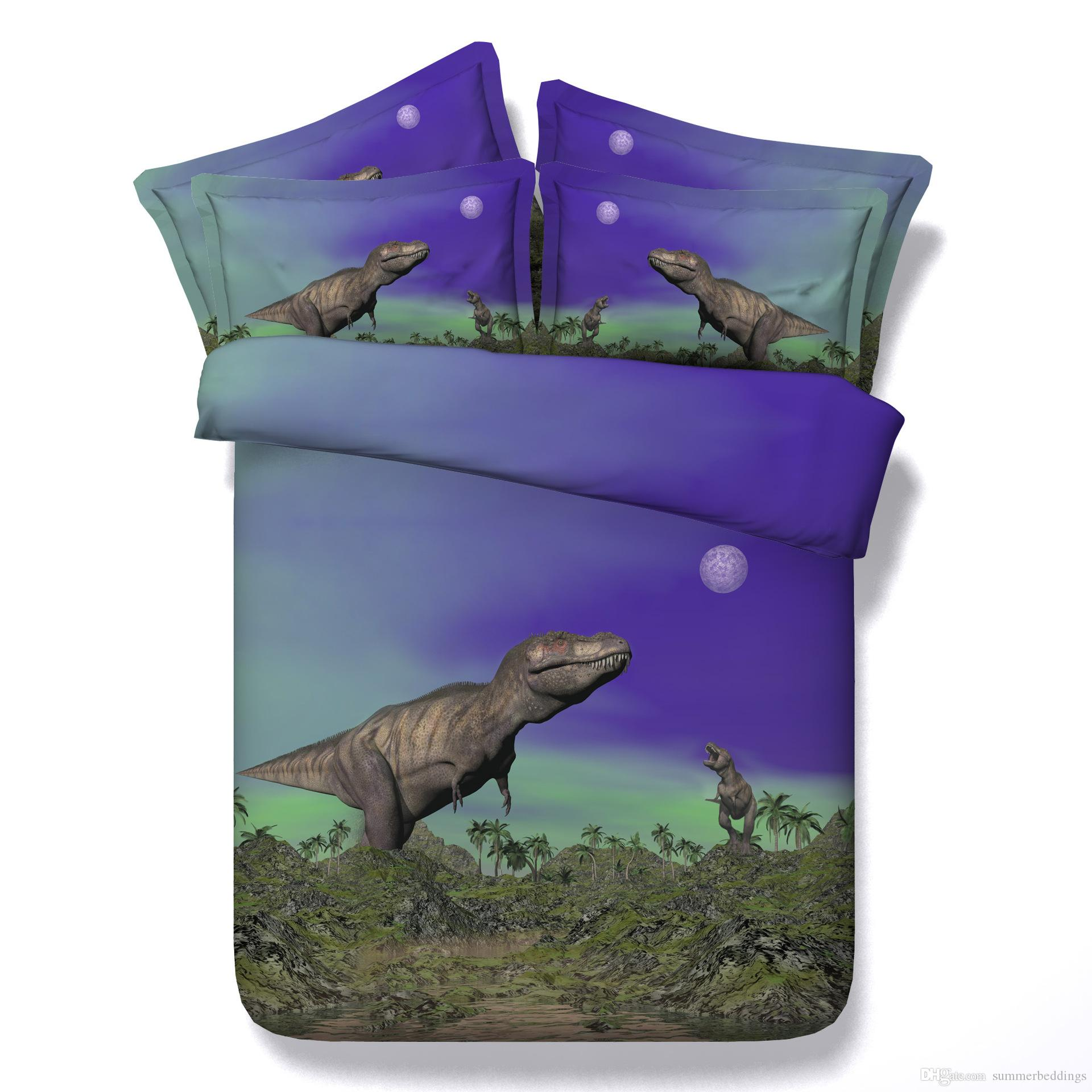 3D Dinosaur bedding sets queen christmas duvet cover single twin king cal king size bedspreads animal bedlinens home textiles pillow shams