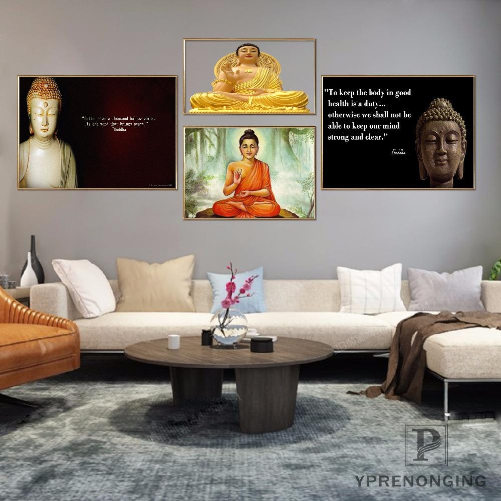 2019 Custom Thai Buddha Poster Art Home Decor Canvas