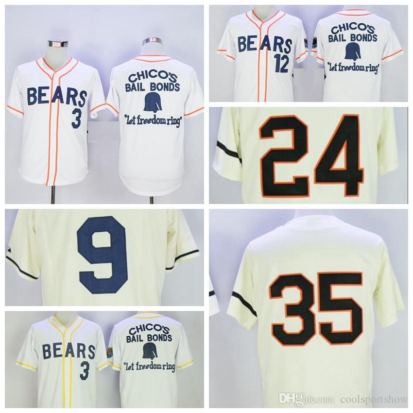 af7e9b22704 usa bad news bears button down 12 tanner boyle white movie stitched  baseball jersey 3a619 ab18b