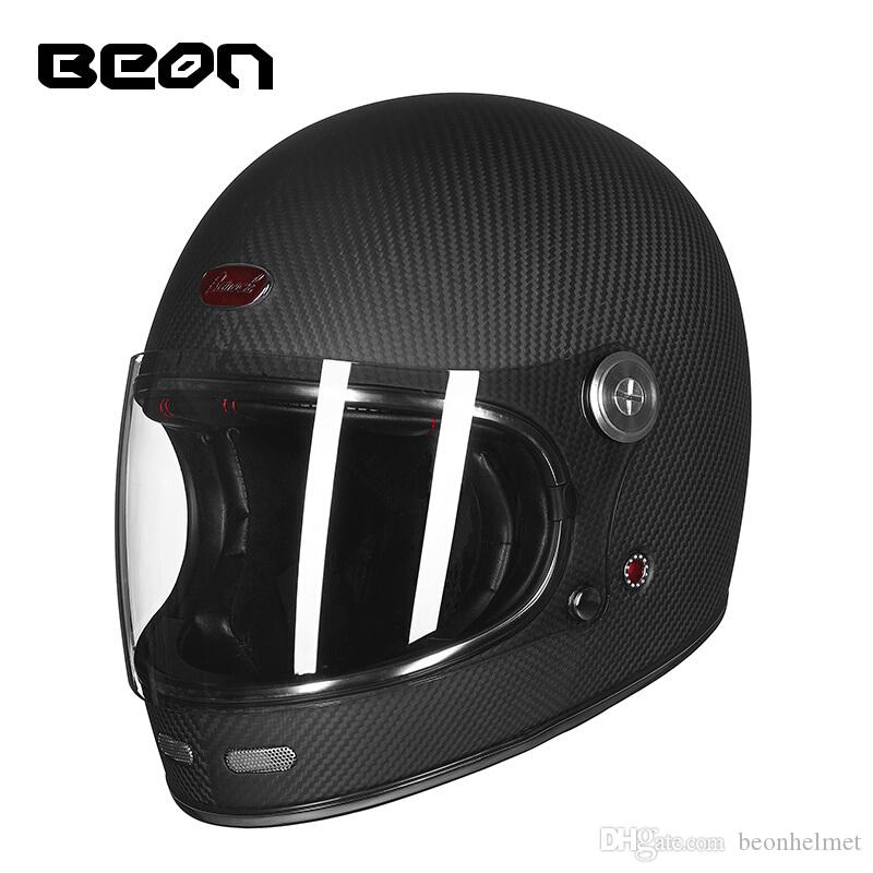 2018 New arrival amazon ebay hot selling motorcycle helmet ECE certificated  full face barock carbon fiber material saftey helmet