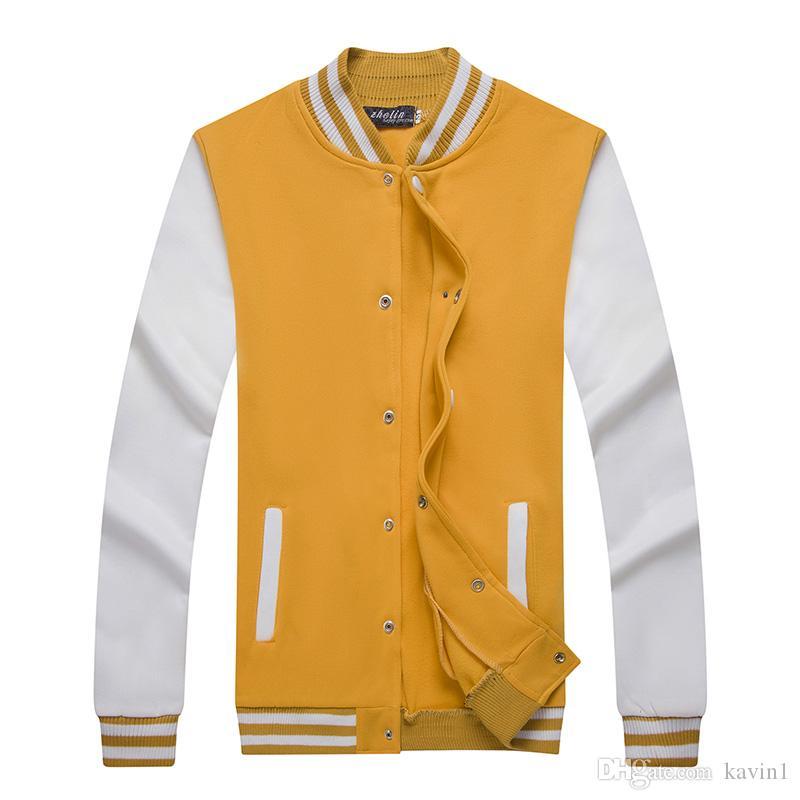 HOT 2018 Printemps En Plein Air De Baseball shirt hommes sport hip hop bref paragraphe Cardigan manteau col en flanellette polaire Cardigan manteau veste