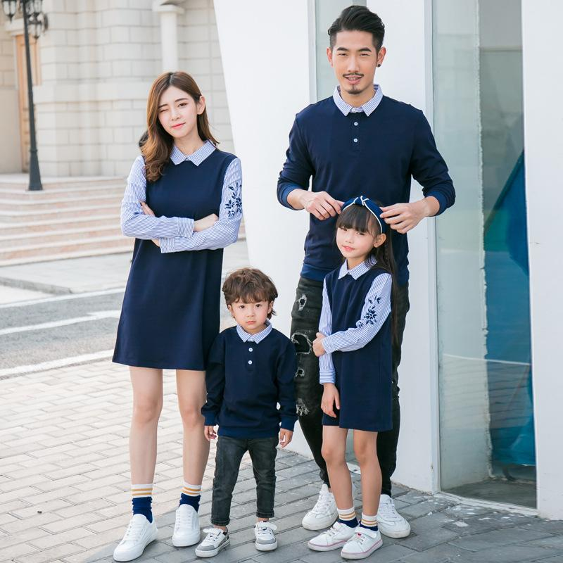 31c5d5d493a2 Spring Family Matching Outfits Couples Clothes Knitting Sweater Family Look  Fashion Stripe Patchwork Embroidery 3XL Clothes Mom And Baby Matching  Clothes ...