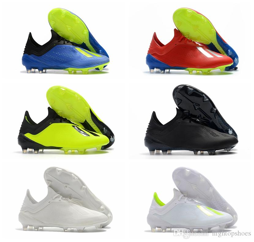 7561024fd743 2019 2018 Cheap Mens Soccer Shoes X 18.1 FG Nemeziz Soccer Cleats X 18.1  Crampons De Football Boots Scarpe Calcio SKELETALWEAVE 39 46 From  Hightopshoes