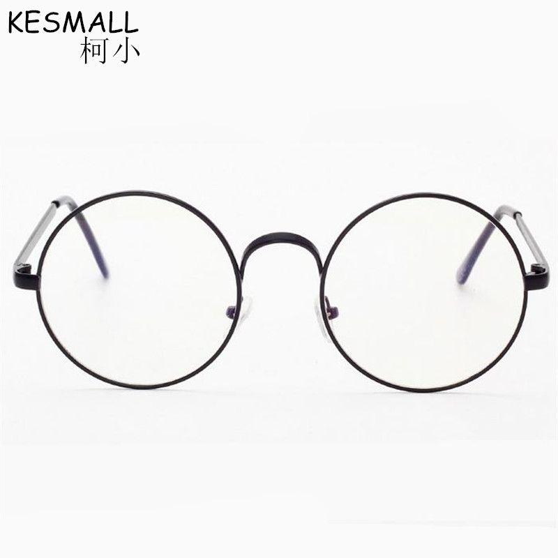 60dc861985 KESMALL 2018 Retro Round Cycle Glasses Frame Men Woman Alloy Eyeglasses  Frame Vintage Myopia Eyewear Oculos De Sol BY252 Frames Men Eyeglass Frames  Glasses ...