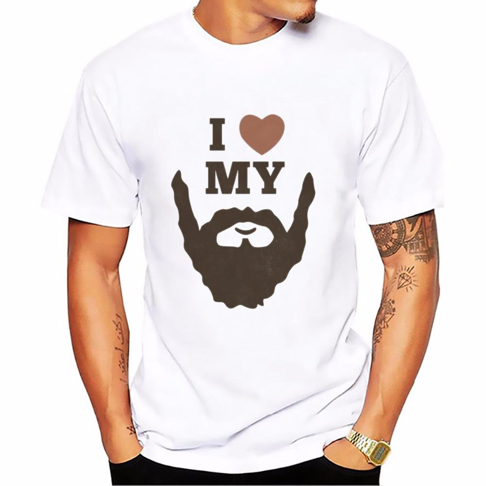 Funny Birthday Gifts For Men Dad Father Husband Bearded Sign Beard Rule Skull Tshirt T Shirt Homme Short Sleeve Beards Cool Design Shirts