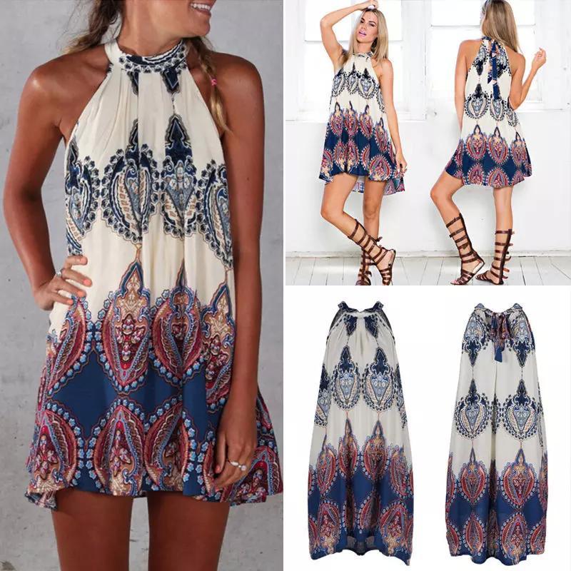 Großhandel Neue Damen Urlaub Mini Strand Kleid Damen Sommer Sun ...