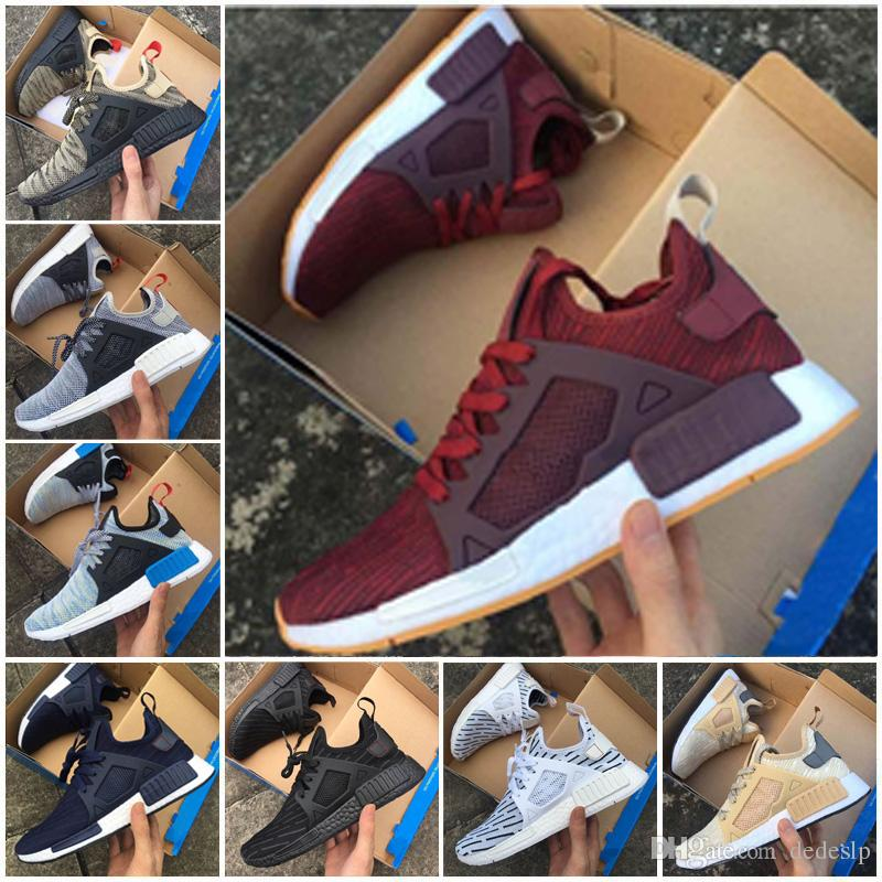 new concept adcff b755e NMD XR1 Primeknit PK zebra Triple Black white mastermind JAPAN red men and  women runner Running Shoes Sports Shoes casual sneaker size 36-45