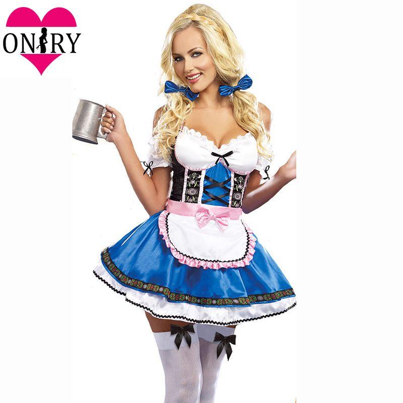 Plus Size Halloween Costumes 2019.Adult Cosplay Dress Plus Size Halloween Costumes For Women Sexy Oktoberfest Beer Girl Costume German Bavarian Beer Maid Outfits