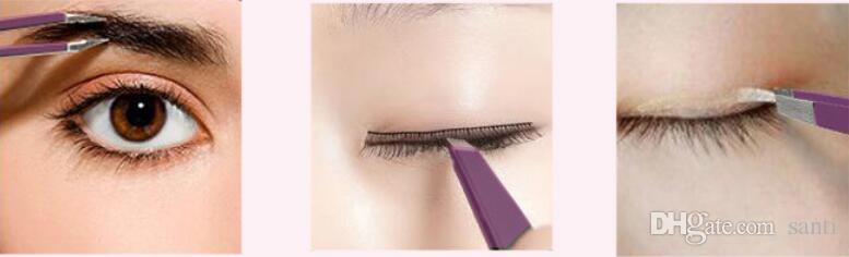 Inclinado inclinado ceja pinzas de acero inoxidable cara eliminación del vello ceja del ojo Trimmer Clip de pestañas cosmética herramienta de maquillaje de belleza