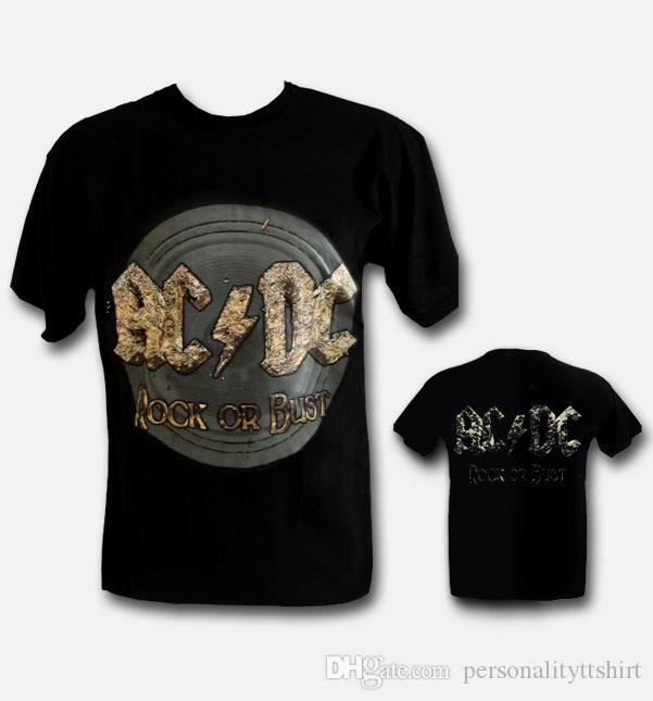 AC DC ROCK OR BUST Men Cotton T Shirt Rock Metal Top Camiseta Maglietta AC  DC Mens Funny T Shirts Buy Shirts From Personalityttshirt c2038f3c082
