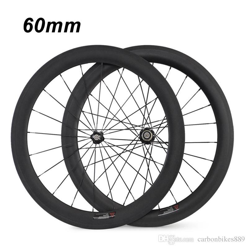 700C 24mm 38mm 50mm 60mm 88mm Clincher Tubular 23mm Width 3K Carbon Wheels Road Bike Bicycle Wheel Racing Touring Wheelset