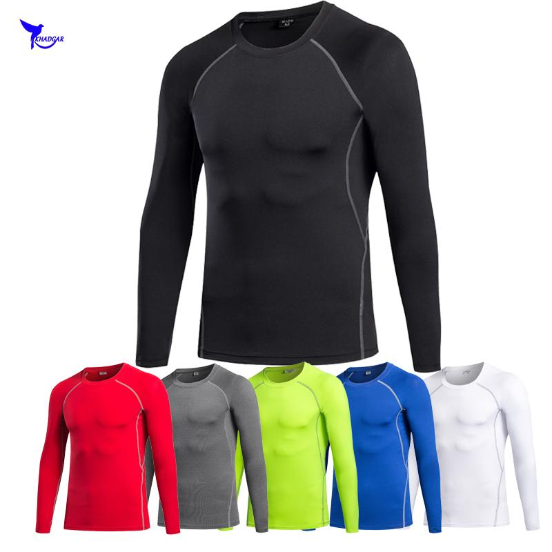 31cc7c798b Mens Fitness Long Sleeves Rashguard T Shirt Men Bodybuilding Skin Tight  Thermal Compression Shirts MMA Crossfit Workout Top Gear Political Tee  Shirts Funny ...